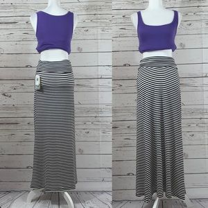 💜 NWT Lily Star white and black striped